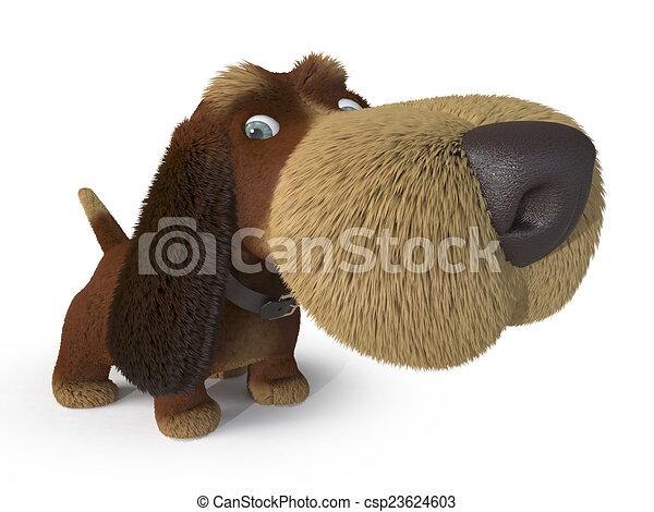 3d ridiculous dog - csp23624603