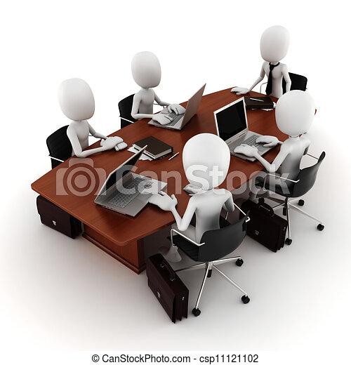 3d, riunione, uomo affari - csp11121102