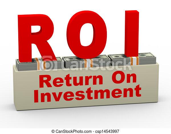 3d roi - return on investment - csp14543997