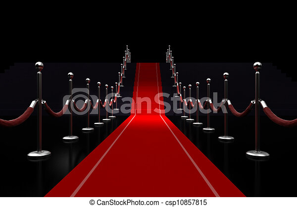 3d ilustración de alfombra roja - csp10857815