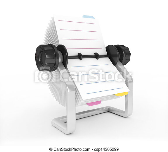 3D Rolodex on a white background - csp14305299