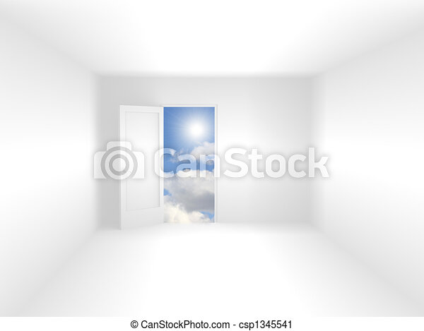 3d room of white color - csp1345541