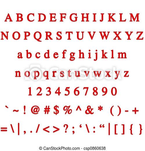 3D Ruby Font - csp0860638