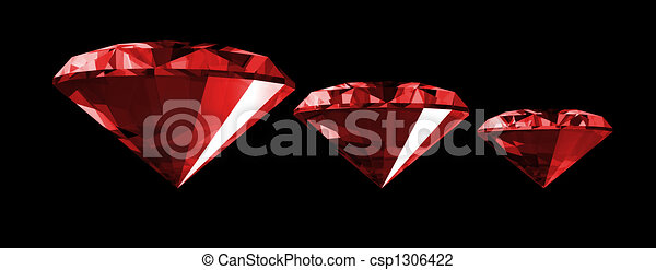 3d Ruby Gem Isolated - csp1306422