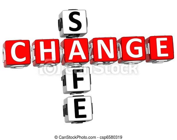 3D Safe Change Crossword - csp6580319