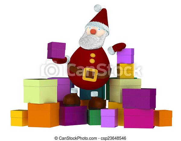 3D Santa Claus - csp23648546
