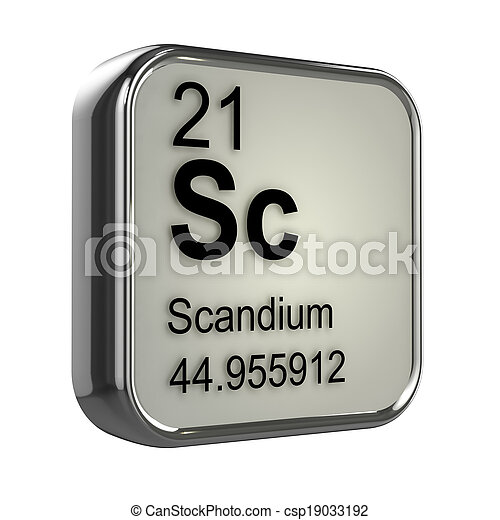 3d Scandium element - csp19033192