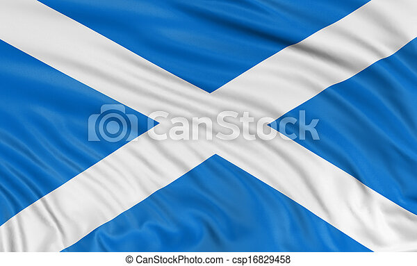 3D Scottish flag - csp16829458
