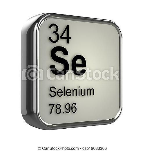 3d Selenium element - csp19033366