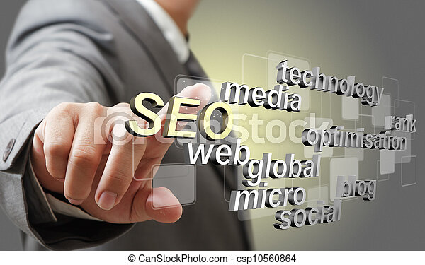 3d SEO search engine optimization as concept - csp10560864