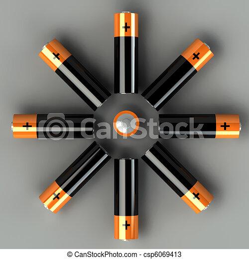 3d set of battery - csp6069413