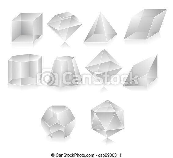 Blank translucent 3d shapes design illustration clipart - Search ...