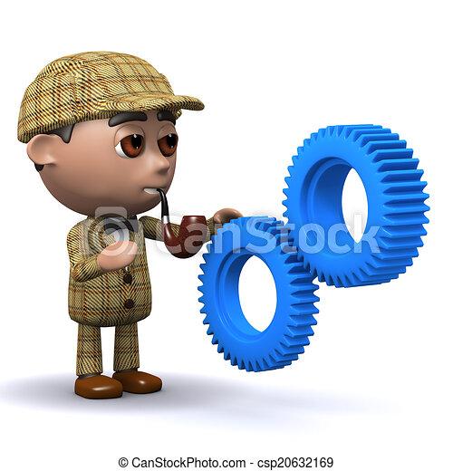 3d Sherlock cogs - csp20632169