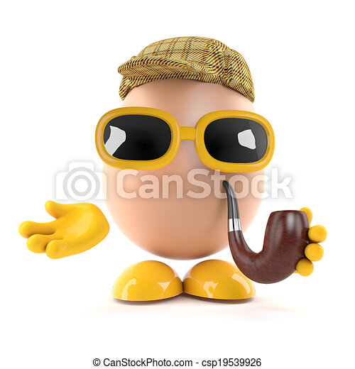 3d Sherlock egg - csp19539926