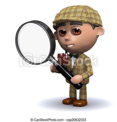 3d Sherlock magnifies - csp20632333