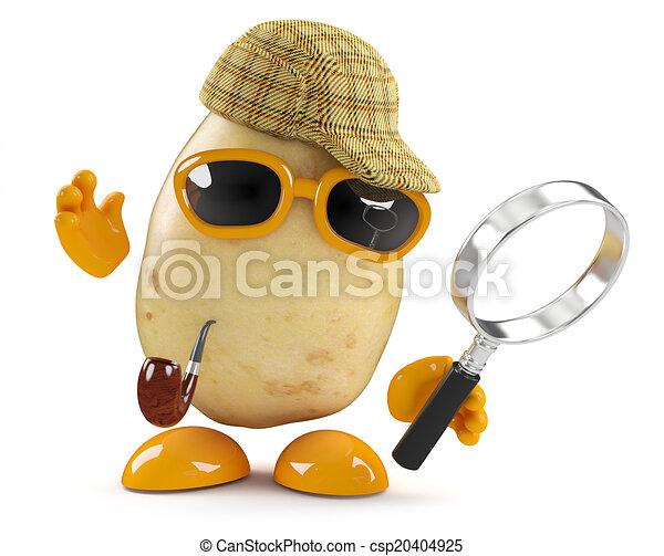 3d Sherlock potato - csp20404925