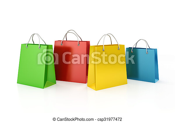 3d shopping bags, sale concept  - csp31977472