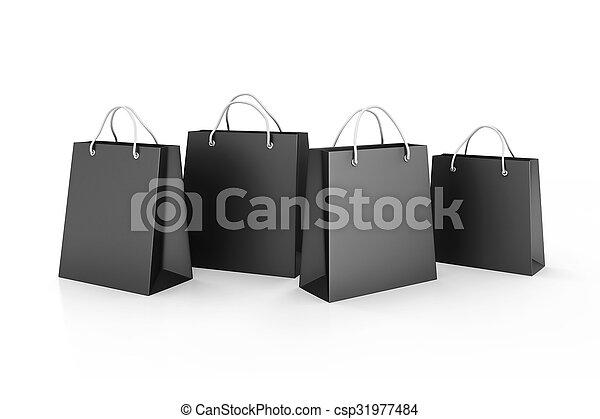 3d shopping bags, sale concept  - csp31977484