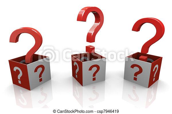 3d interrogantes - csp7946419