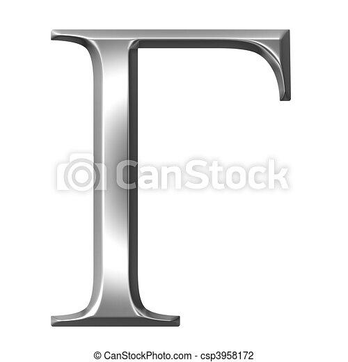 3d Silver Greek Letter Gamma 3d Silver Greek Letter Gamma Isolated