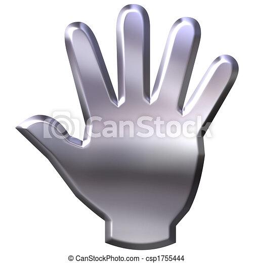 3D Silver Hand - csp1755444