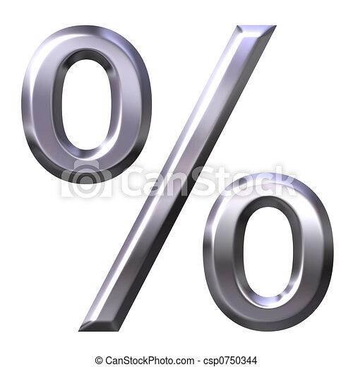 3D silver percentage symb - csp0750344