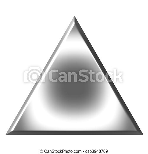3D Silver Triangle  - csp3948769