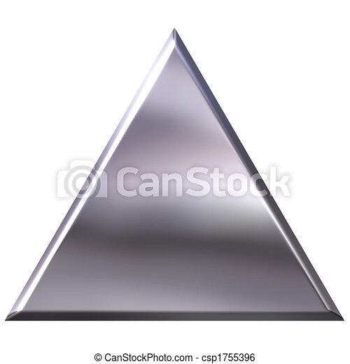 3D Silver Triangle - csp1755396