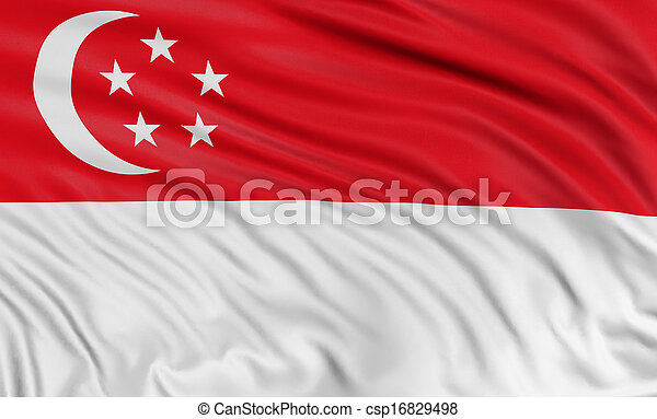 3D Singapore flag - csp16829498