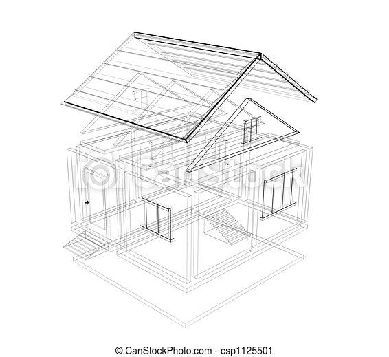 3d Sketch Of A House   Csp1125501