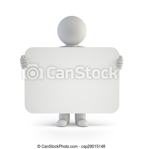 3d small people - announcement - csp29015148