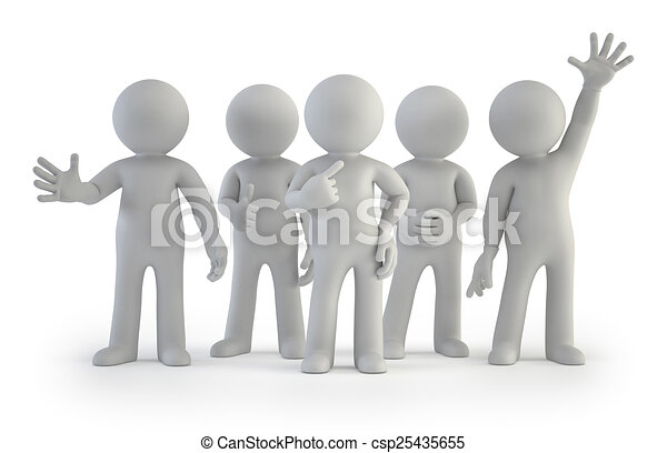 3d small people - best group - csp25435655