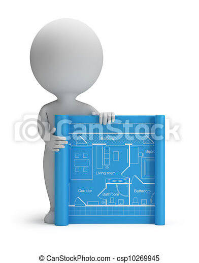 3d small people blueprint 3d small person with a drawing 3d small people blueprint csp10269945 malvernweather Gallery