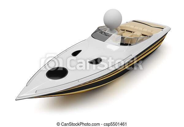 3d small people - boat - csp5501461