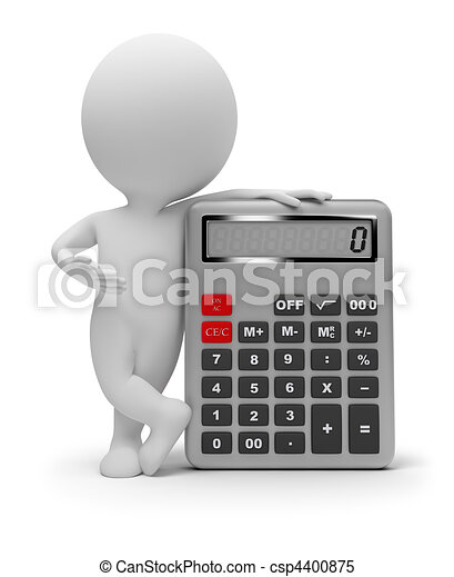 3d small people - calculator - csp4400875