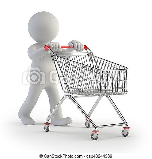 3d small people - cart - csp43244389