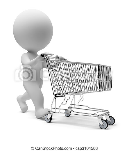 3d small people - cart - csp3104588