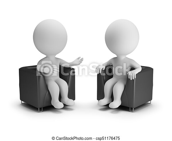 3d small people - conversation - csp51176475
