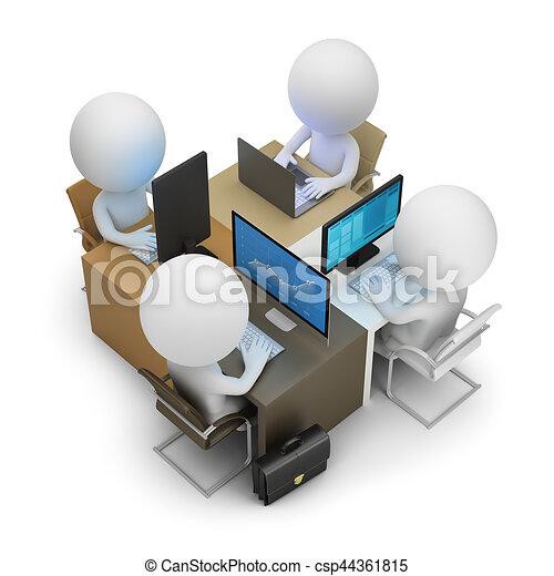 3d small people - development team - csp44361815