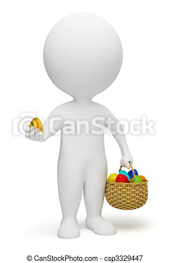3d small people - Easter - csp3329447