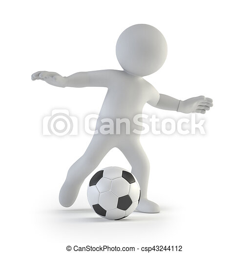 3d small people - football player - csp43244112