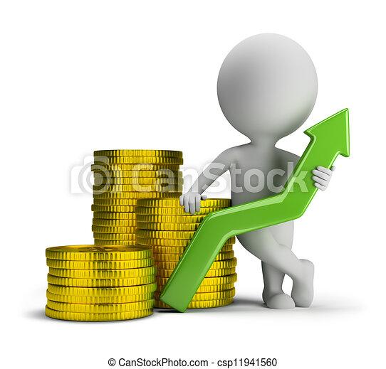3d small people - good profit - csp11941560