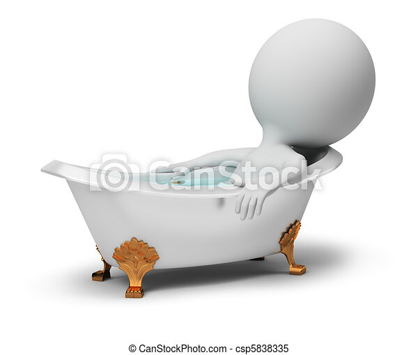 3d small people - in a bath - csp5838335