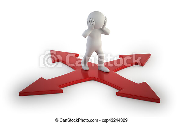 3d small people - intersection - csp43244329