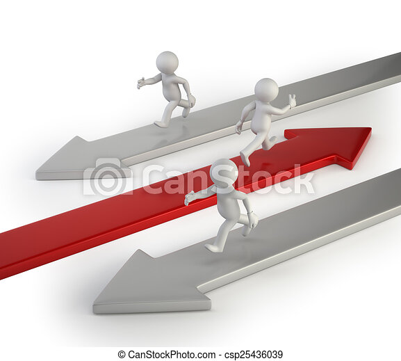 3d small people - its way to success - csp25436039