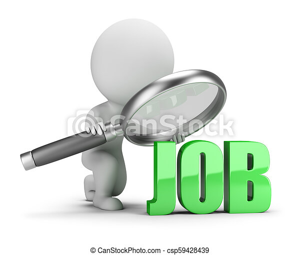 3d small people - job search - csp59428439