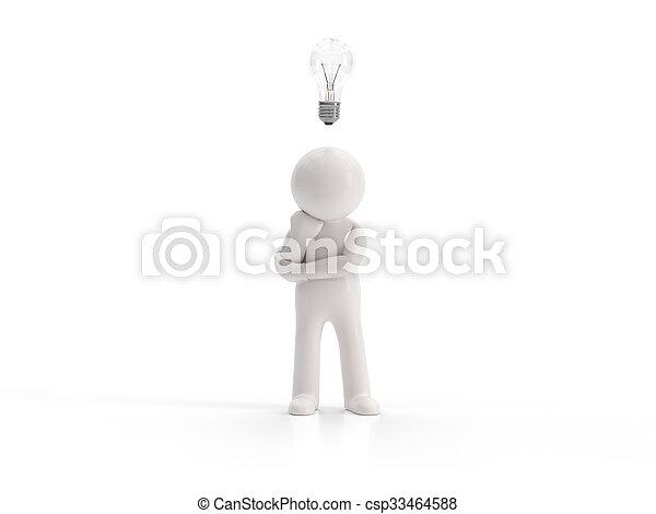 3d small people - no idea - csp33464588