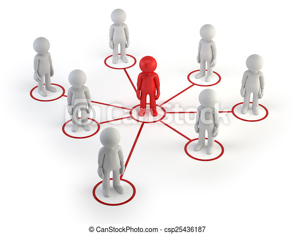 3d small people - partner network - csp25436187