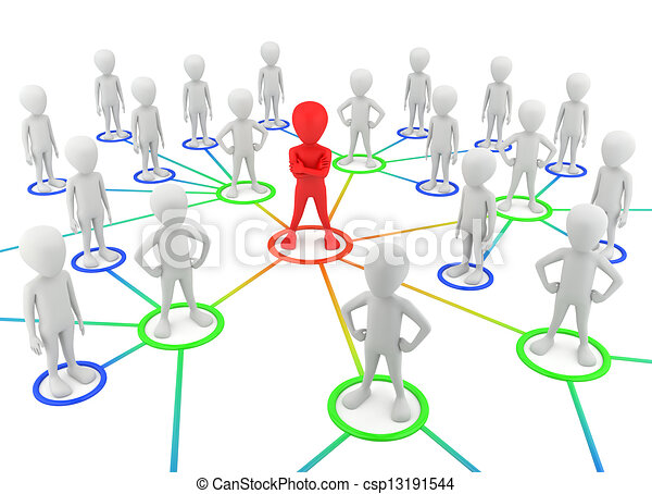 3d small people - partners the network. - csp13191544