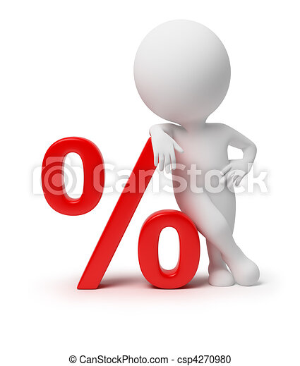 3d small people - percent - csp4270980